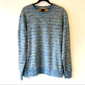 Scotch & Soda Blue Yellow Cozy Knit Sweater XL